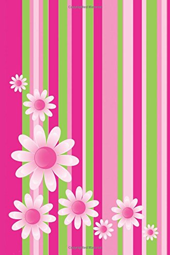Journal: Pink Flowers and Stripes 6x9 - DOT JOURNAL - Journal with dotted pages (Flowers Dot Journal Series)