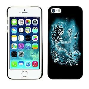 Estuche Cubierta Shell Smartphone estuche protector duro para el teléfono móvil Caso Apple Iphone 5 / 5S / CECELL Phone case / / Mermaid Skull Skeleton Seahorse /