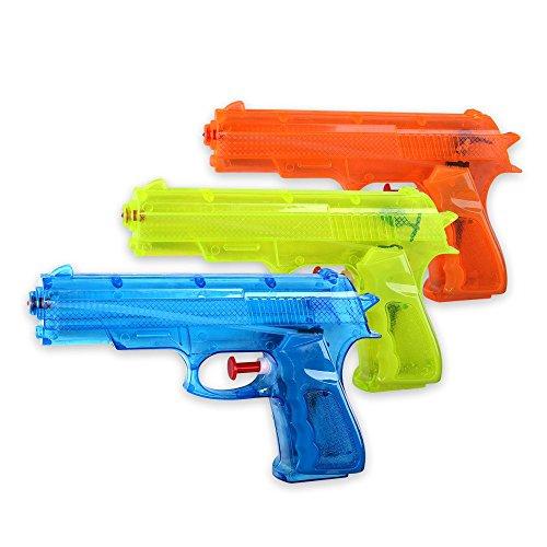 S/O® 3er Pack Wasserpistole Klassiker ca. 17cm Wasserpistolen Wasser Pistole Water Gun Watergun Wassergewehr Wassergewehre