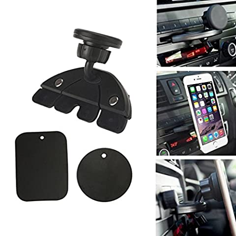 Mchoice Universal Magnet Car CD Slot Holder Mount Stand for GPS MP4 5 & Tablet Phone New (Phone Mp4)