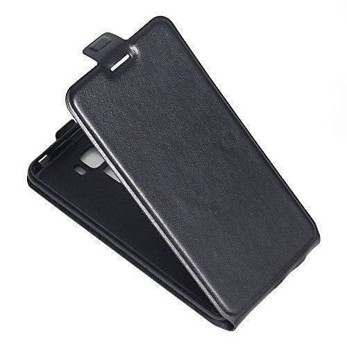 Para Asus ZenFone 3 Laser ZC551KL 5.5 inch Caso compacto de piel PU, arriba-abajo piel abierta PU Funda de piel con ranura para tarjeta y función de protección completa con cierre magnético Caja a pru Negro