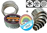 K&S Artisan Round Cookie Biscuit Cutter set 11 Graduated & NUMBERED Circle Pastry Cutters Rust Proof Commercial Quality 100% Stainless Steel Metal ring molds for Baking Cooking + 3 cookie stencils
