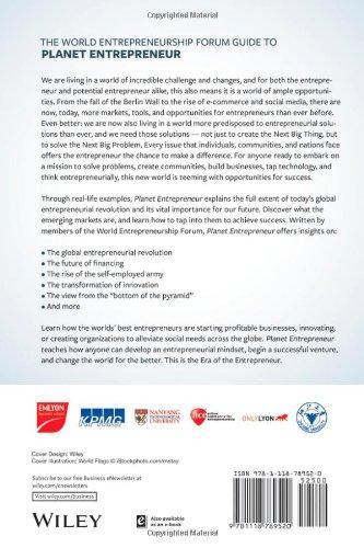 Planet Entrepreneur: The World Entrepreneurship Forum's