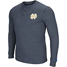 Colosseum Men's NCAA Long Sleeve Blended Thermal 3 Button Waffle Henley Shirt-Heathered