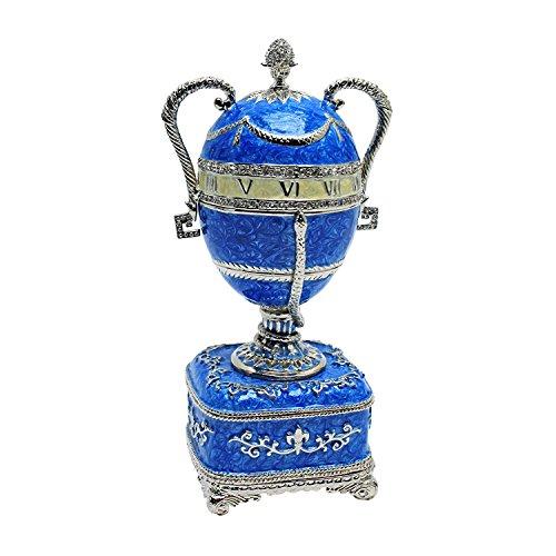 Design Toscano el St. Petersburg Imperial Plata Katya esmaltado Huevo