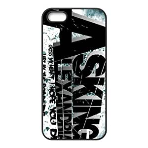 Asking Alexandria Design Solid Rubber Customized Cover Case for iPhone 5 5s 5s-linda332