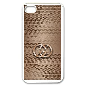 Gucci Logo For iPhone 4 4s Custom Cell Phone Case Cover 99UI976789