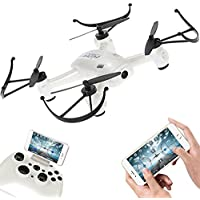 FUQI Remote Controlled Rechargeable Quadcopter Rotatable Motor Arm Drone Wifi Control HD Camera Attitude Set(White)
