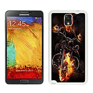 ghost_rider_motorcycle_fire_fog_64914_800x1280 White Unique Hard Samsung Galaxy Note 3 Phone Case