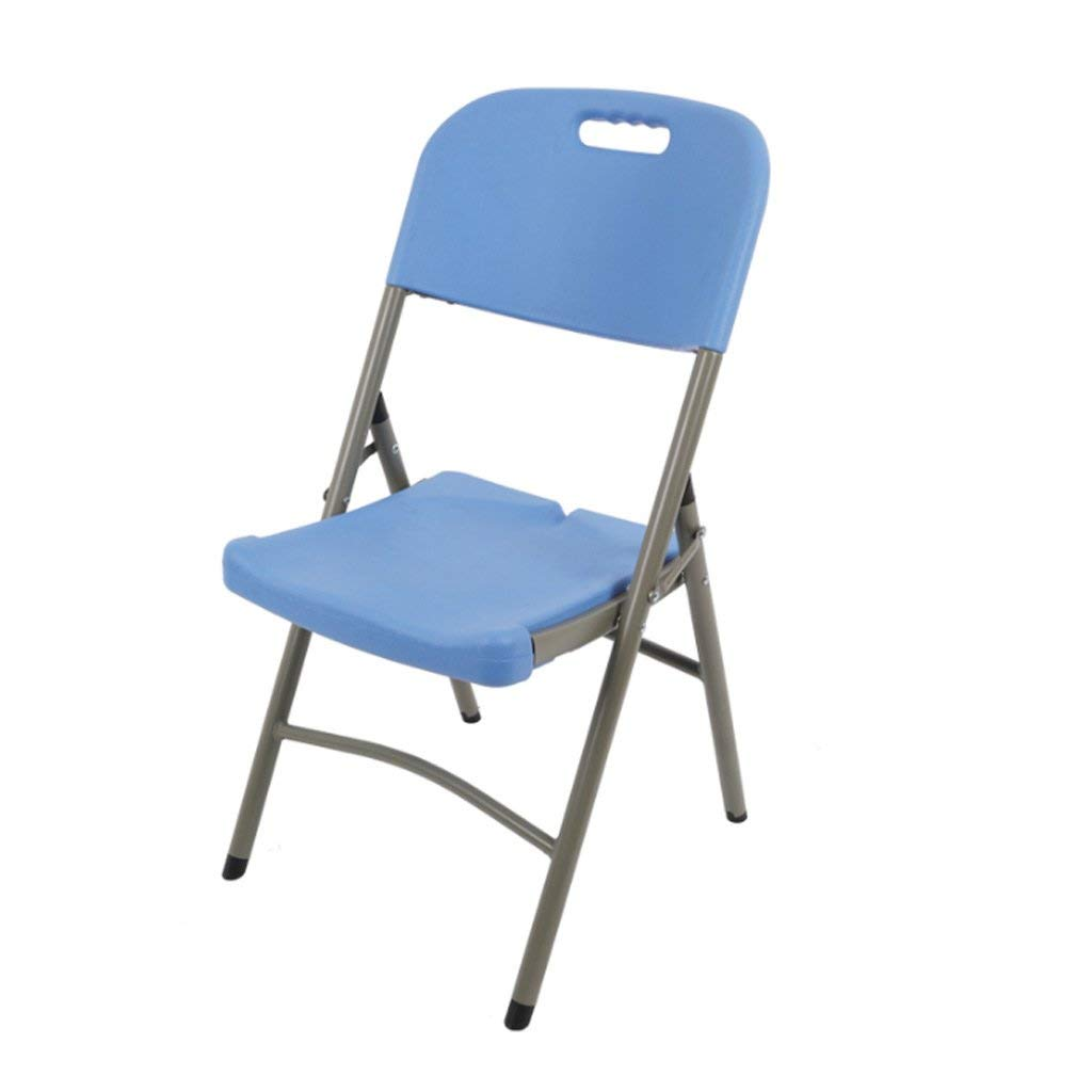 bluee 454388CM Folding Chairs Home Dining Chairs Leisure Chairs Training Chairs Conference Chairs Portable Chairs Stools (color   Creamy-White, Size   45  43  88CM)