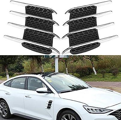2pcs Car Intake Grille Bonnet Vents Exterior Hood Side Air Flow Vent Cover Decorative Trim Sticker Car Air Flow Vent