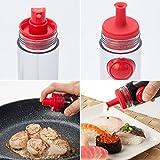 Okayji 2 in 1 Cooking Oil Sauce Vinegar Dispenser Bottle Sprayer 2 Way Kitchen Tools - Random Colour