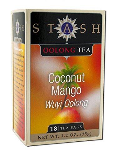 (Stash Tea Tea Oolong Coconut Mango, 18 Tea Bags (Pack of 3))
