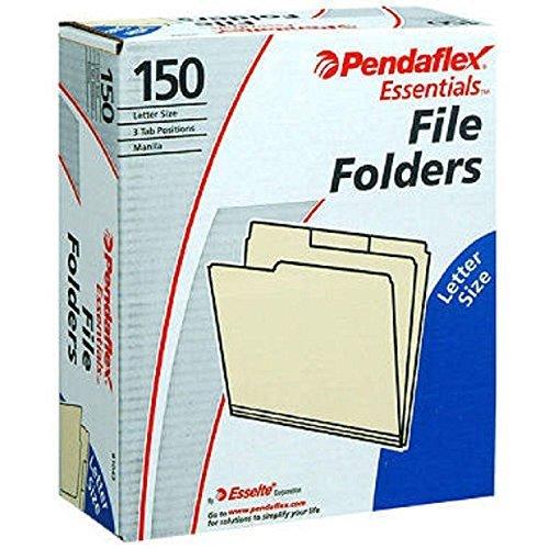 Essentials Manila File Folders - NEW Pendaflex Essentials File Folders Letter Size 1/3 Cut Manila 150/Pk - 217735
