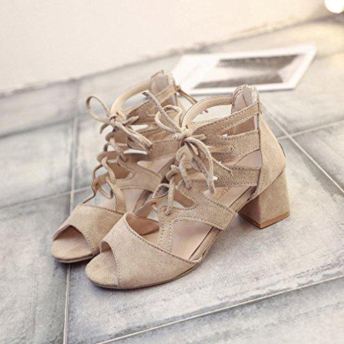 De Tobillera Chanclas de Playa y Mujer Bailarinas Las Planas Moda C Sandalias Bohemia Zapatos Zapatillas Sandalias Cuero Cordones ASHOP Verano de SwvCTOqva