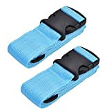 WeBravery Adjustable Luggage Strap Suitcase Belt Bag Straps Travel Accessories (Blue, 2Pack)