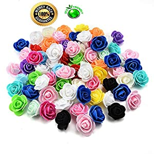 roses flowers in bulk wholesale Fake Flowers Heads Mini PE Foam Rose Flower Head Artificial Flowers for Home DIY Headdress Wreath Supplies Wedding Party Decoration 50Pcs/lot 3cm (Multicolor) 63