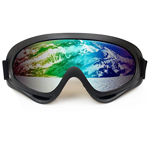 Vivic Flame Ski Goggles Polarized Lens Snowmobile Skate Motorcycle With Uv400 Protection For Men Women Youth Kids Colorful