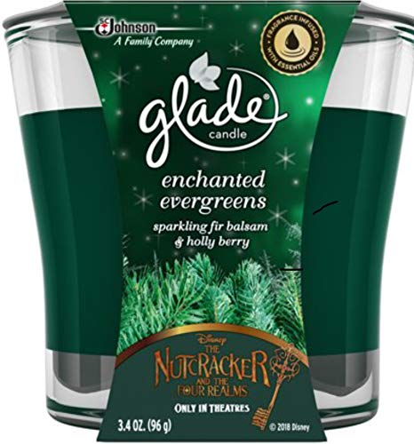 Glade Jar Candle Air Freshener, Enchanted Evergreens, 3.4 Ounces