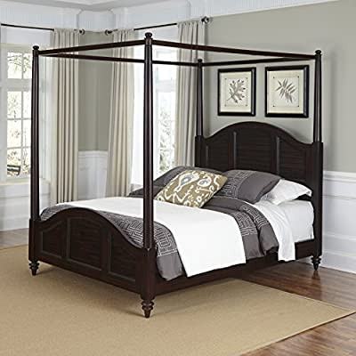 Home Styles Bermuda Canopy Bed Espreso Finish - Shutter style design Turned feet Old world tropical design - bedroom-furniture, bed-frames, bedroom - 51IeaWl1NWL. SS400  -