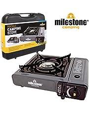 Milestone Camping draagbare gaskoker - zwart