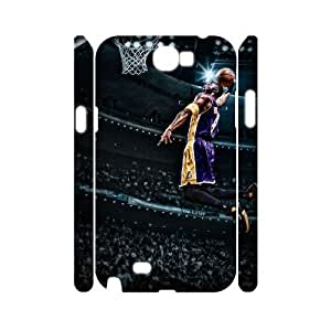 DIY Kobe Bryant 3D Phone Case, DIY 3D Phone Case for samsung galaxy note 2 n7100 with Kobe Bryant (Pattern-1)