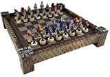 American US Civil War North vs South chess set W/ 17' CASTLE Board