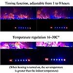 Caminetto-Elettrico-da-Parete-con-Cornice-Fuoco-Timer-Stufa-Camino-Elettrico-con-Controllo-termostato-Regolabile-Realistico-Effetto-Fiamma-a-LED
