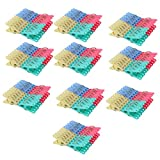 uxcell® Plastic Household Socks Towel Clothing Clothes Clips Clamp Clothespin Hanger 200pcs