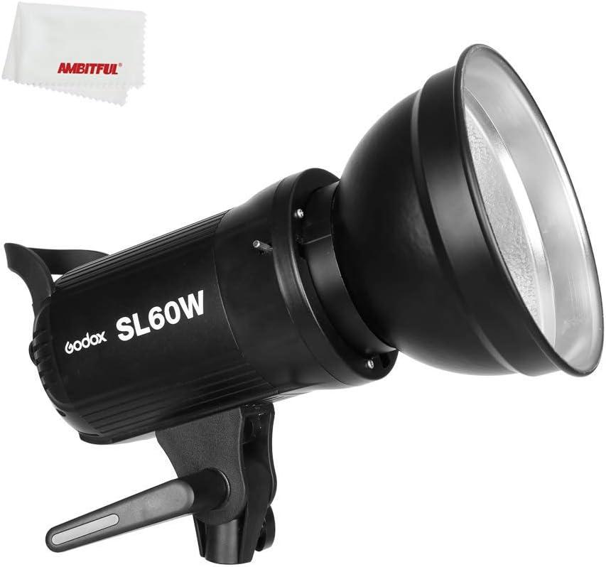 Godox SL60W LED Foco LED Luz fría 5600K CRI95+ Qa>90 Montura Bowens con Control Remoto