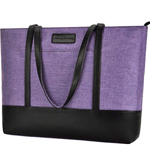 Laptop Tote Bag,Fits 15.6 Inch Laptop,Womens Lightweight Water Resistant Nylon Tote Bag Shoulder -