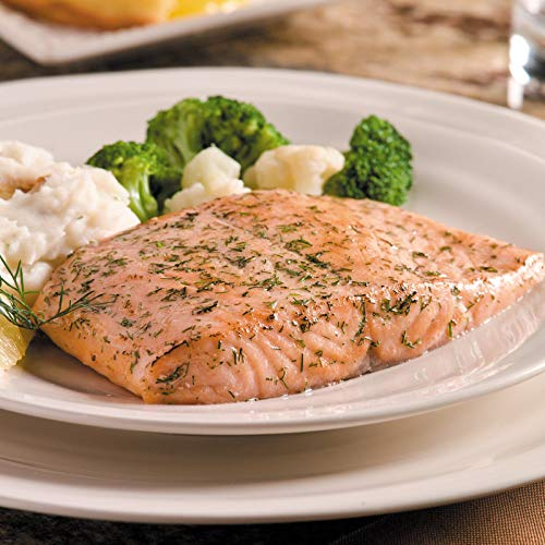 Salmon Steaks Fillets Omaha - Omaha Steaks 4 (6 oz.) Lemon Dill Salmon Fillets