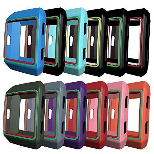 3-Black AWINNER Colorful Case for Fitbit Ionic,Shock-proof and Shatter-resistant Protective Silicone Case for Fitbit Ionic Smartwatch