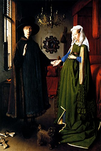 THE PORTRAIT OF GIOVANNI ARNOLFINI AND HIS BRIDE COUPE MARRIAGE PAINTING BY JAN VAN EYCK 20