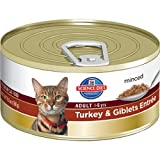 Hill's Science Diet Adult Optimal Care Turkey and Giblets Entree Minced Cat Food, 5.5-Ounce Can, 24-Pack, My Pet Supplies