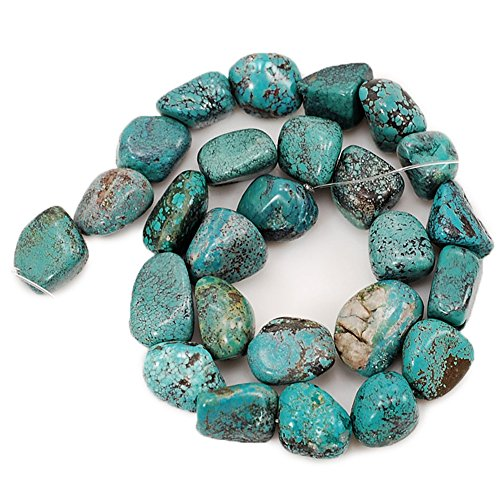 01 Blue Hubei Turquoise Nugget 12x12x13mm-16x12x10mm for Necklace Gemstone Loose Beads 15