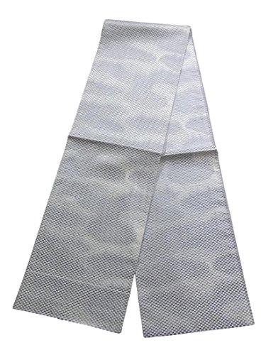 好意自由湿気の多いリサイクル 全通 袋帯 格子模様 霞文 ぼかし 正絹