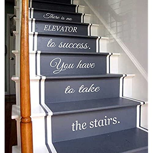 Wall Decals Vinyl Decal Sticker Children Kids Nursery Baby Room Interior  Design Home Decor Staircase Stairway Stairs Words Phrase Love Family Quotes  There ...