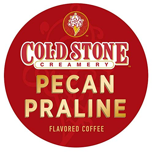 Pecan Sampler Pralines - Cold Stone Creamery Single Serve Coffee in Recyclable Cups for all K Cup Brewers, including the Keurig 2.0 Brewer (Pecan Praline, 24)