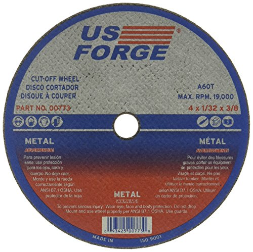 US Forge 775 Cut Off Wheel 3-Inch by 1/16-Inch 1/4-Inch Arbor - Power Sander Accessories - Amazon.com