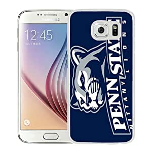 Hot Sale Samsung Galaxy S6 Case, Ncaa Big Ten Conference Football Penn State Nittany Lions 3 White Samsung Galaxy S6 Cover Unique And High Quality Designed Phone Case