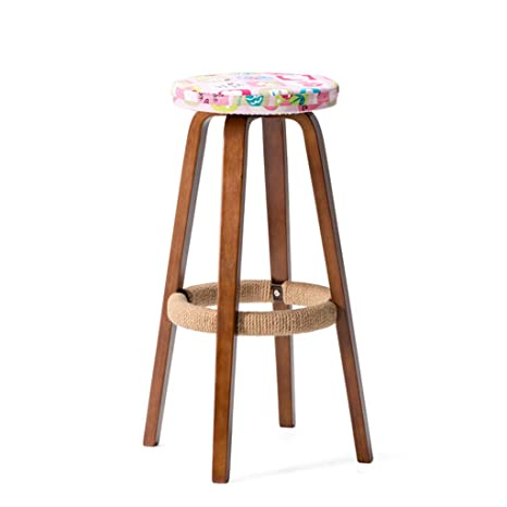 Cool Amazon Com Nj Stools Solid Wood Bar Chair Round High Alphanode Cool Chair Designs And Ideas Alphanodeonline