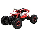Cheerwing 1:18 Rock Crawler 2.4Ghz Remote Control Car 4WD Off Road RC Monster Truck Red