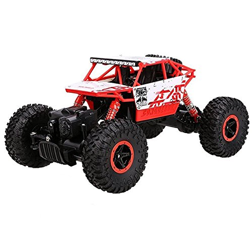 Cheerwing 1:18 Rock Crawler 2.4Ghz Remote Control Car 4WD Off Road RC Monster Truck Red (Red Monster Truck)