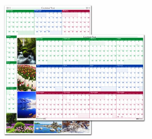 House of Doolittle Earthscapes Laminated Write-On/Wipe-Off Wall Planner January 2013 to December 2013 24 x 37 Inches, Nature Photos (HOD393) (Earthscapes Planner Laminated)