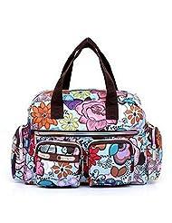 WEESDON Women's Fashion Printing Waterproof Shoulder/Cross-Body Dual Bag
