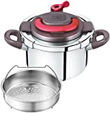 T-fal pressure cooker ''Kuripuso arch'' one-touch opening and closing IH corresponding paprika Red 4L P4360432