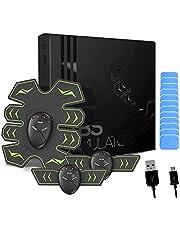 8 Pads Abs Stimulator Buikspiertrainer - USB oplaadbaar - EMS Sixpack trainer voor mannen & vrouwen om thuis buikspieren te trainen - Met 8 pads in plaats van 6 - CE gecertificeerd
