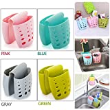 4PCS Sponge Sink Holder,Hanging Silicone Kitchen Gadget Storage Organizer,Baskets Drain Bag (Multicolor)