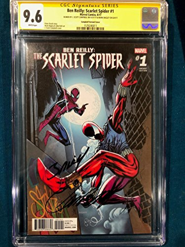 Scarlet Spider #1 CGC 9.6 J. Scott Campbell & Mark Bagley SIGNED Comic not cbcs ()